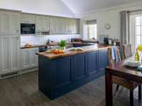 image of the kitchen in the North Wing at Acton Castle self catering accommodation near Perranuthnoe