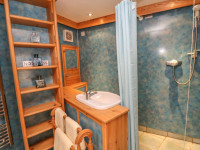 image of the shower room in little place self catering holiday let perranuthnoe