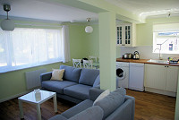 image of the kitchen in Tide Cottage self catering holiday let in perranuthnoe